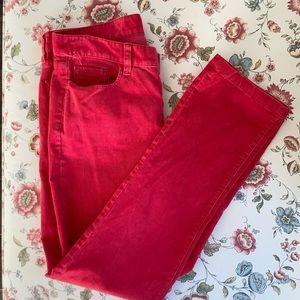 J. Crew Coral Corduroy City Fit Pants, Size 28S